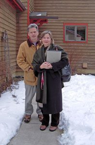 Lyn-Pohl-and-Jim-McGarry-on-the-day-of-closing,-61-Tehan-Road,-Freeville